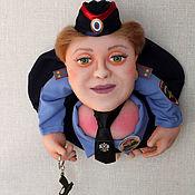 Портретная кукла ручной работы. Ярмарка Мастеров - ручная работа Кукла Попик Полицейский женщина - кукла на удачу. Полковник генерал. Handmade.