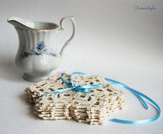 Кухня ручной работы. Ярмарка Мастеров - ручная работа. Купить Подставки под чашки, бокалы. Набор (6 штук). Handmade.