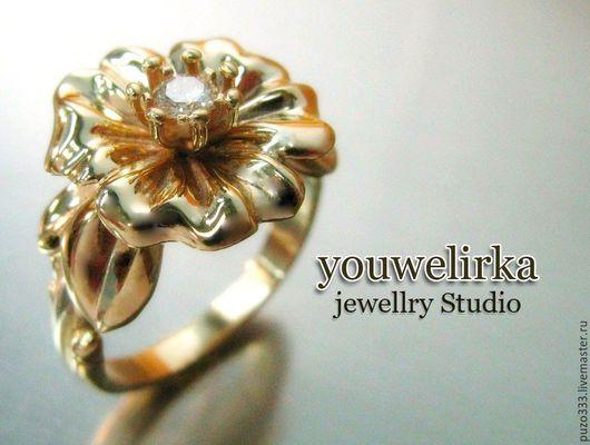 """Кольца ручной работы. Ярмарка Мастеров - ручная работа. Купить Кольцо """"Цветок"""". Handmade. Золотое кольцо, подарок девушке"""