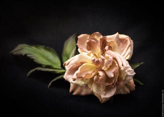 Цветы ручной работы. Ярмарка Мастеров - ручная работа. Купить Цветы из шелка.. Роза. Handmade. Кремовый