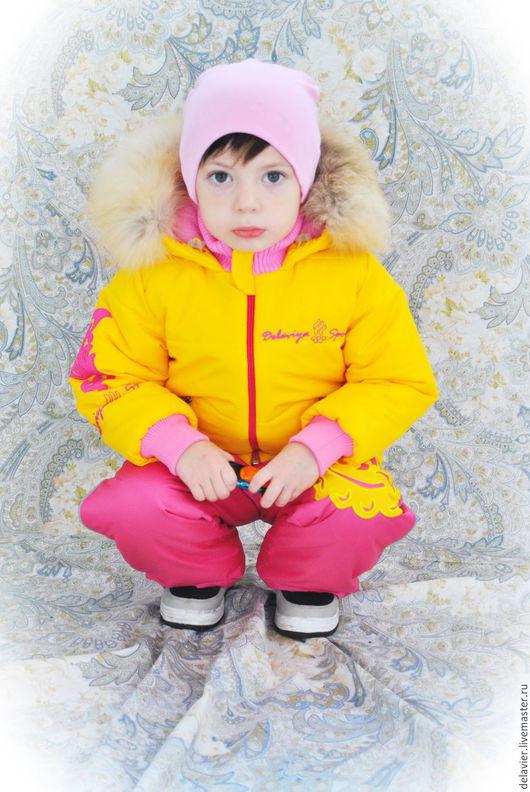 """Одежда для девочек, ручной работы. Ярмарка Мастеров - ручная работа. Купить Зимний/демисезонный комплект в стиле олимпийской сборной """"Лимонный"""". Handmade."""