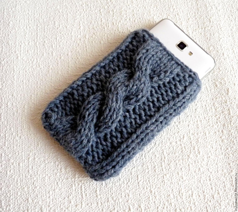 вязаный чехол для мобильного телефона купить в интернет магазине