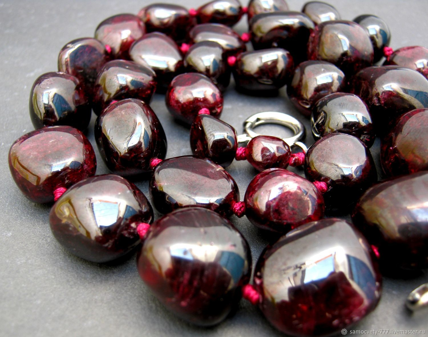 Necklace'Natural Garnet', Necklace, Feodosia,  Фото №1