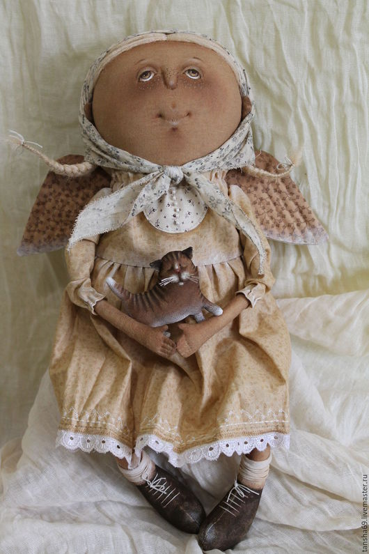 Коллекционные куклы ручной работы. Ярмарка Мастеров - ручная работа. Купить Светлый Ангел.... Handmade. Бежевый, ароматизированная кукла, ангелочек