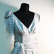 Одежда ручной работы. Ярмарка Мастеров - ручная работа Шифоновое платье в горох. Handmade.