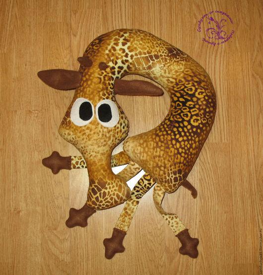Текстиль, ковры ручной работы. Ярмарка Мастеров - ручная работа. Купить Подушка-жираф. Handmade. Коричневый, мужу