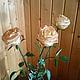 Искусственные растения ручной работы. Ярмарка Мастеров - ручная работа. Купить роза из полимерной глины. Handmade. Кремовый, чайная роза