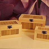 Материалы для творчества ручной работы. Ярмарка Мастеров - ручная работа три шкатулки. Handmade.