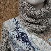 handmade. Livemaster - original item Felted sweater Oatmeal, sir.)). Handmade.