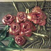 Картины и панно ручной работы. Ярмарка Мастеров - ручная работа золотые розы. Handmade.