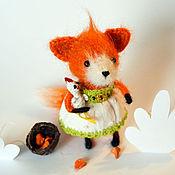 """Куклы и игрушки ручной работы. Ярмарка Мастеров - ручная работа Вязаная работа """"Лисичка и курочка"""". Handmade."""