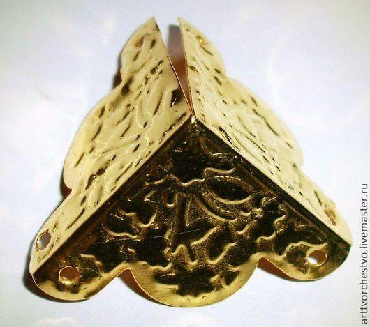 Уголки для шкатулок декоративные. цвета в наличии золото, серебро, бронза.