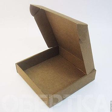Материалы для творчества ручной работы. Ярмарка Мастеров - ручная работа Коробка  18х18х4 см микрогофрокартон. Handmade.