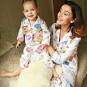 Одежда handmade. Livemaster - original item Pajama family bow