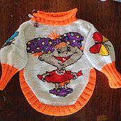 Работы для детей, ручной работы. Ярмарка Мастеров - ручная работа свитерок для малышки. Handmade.