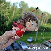 Куклы и игрушки ручной работы. Ярмарка Мастеров - ручная работа Мотылек, летящий на стук сердца. Легкие люди, принесенные ветром. Handmade.