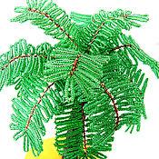 Дерево из бисера Пальма