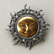 Винтаж handmade. Livemaster - original item The SUN brooch by JJ. Handmade.
