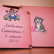 Подарки к праздникам handmade. Livemaster - original item Personalized photo album for baby. Handmade.