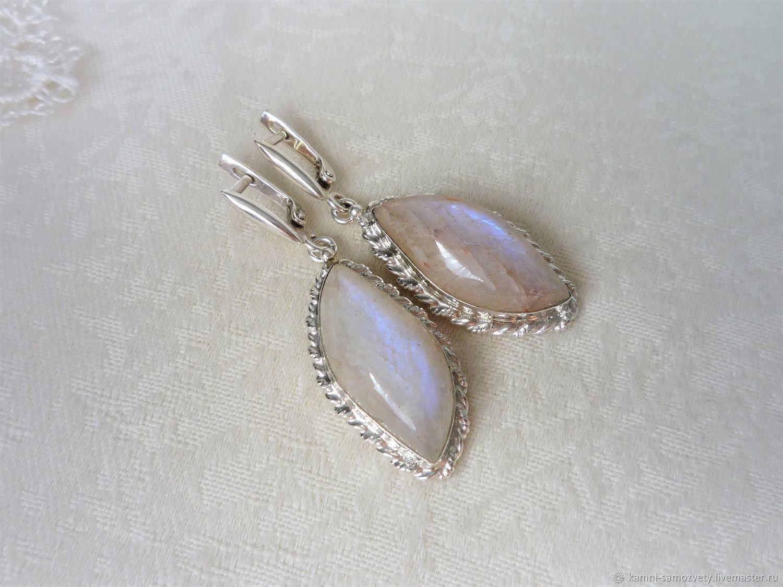 White marble earrings, Earrings, Irkutsk,  Фото №1