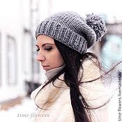Аксессуары ручной работы. Ярмарка Мастеров - ручная работа Вязаная шапочка «Туманный альбион». Handmade.