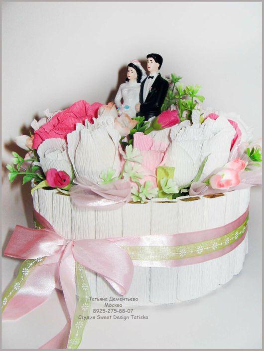 Праздничная атрибутика ручной работы. Ярмарка Мастеров - ручная работа. Купить Свадебный торт. Handmade. Торт, свадебный подарок