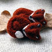 Украшения handmade. Livemaster - original item brooch Fox. Handmade.