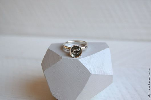 Кольца ручной работы. Ярмарка Мастеров - ручная работа. Купить Лунный кратер, серебро 999 пробы. Handmade. Серебряный, вулкан