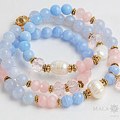 Украшения handmade. Livemaster - original item Triple bracelet - Lakshmi beads. Handmade.