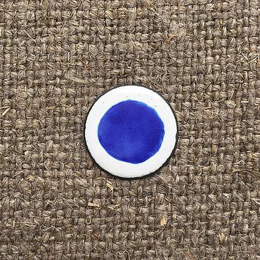 Материалы для творчества ручной работы. Ярмарка Мастеров - ручная работа Краска надглазурная Дулево №5690 синяя. Handmade.
