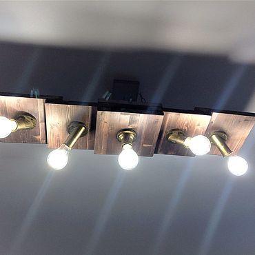 Освещение ручной работы. Ярмарка Мастеров - ручная работа Светильник потолочный из дерева. Handmade.