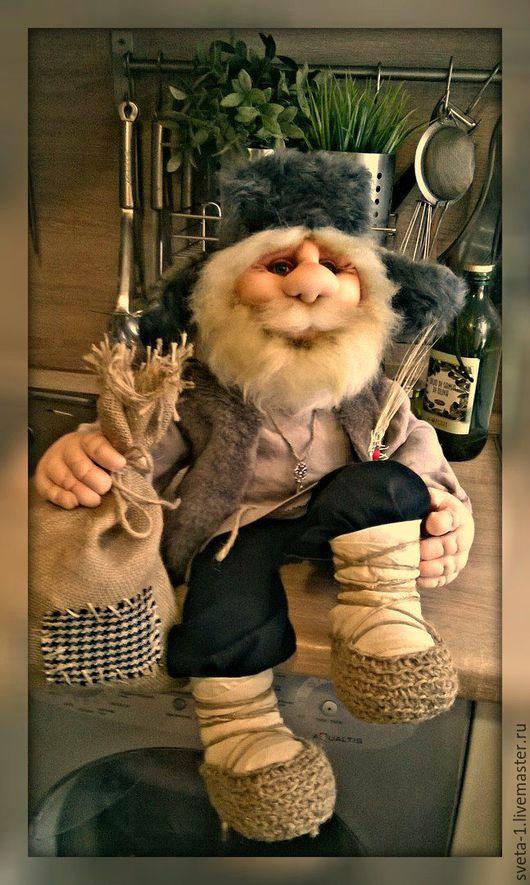 Коллекционные куклы ручной работы. Ярмарка Мастеров - ручная работа. Купить домовой. Handmade. Бежевый, интерьерная кукла, синтепон