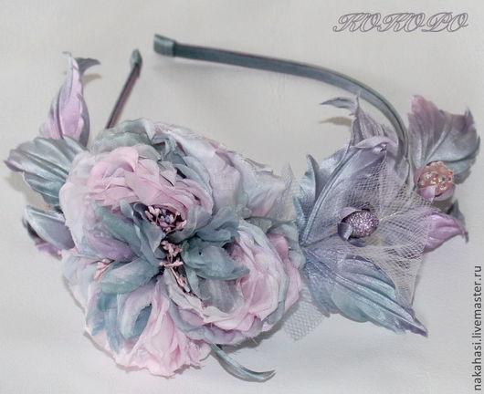 Диадемы, обручи ручной работы. Ярмарка Мастеров - ручная работа. Купить Ободок  «Baroness » со староанглийской розой.. Handmade.