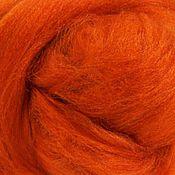 """Ткани ручной работы. Ярмарка Мастеров - ручная работа Шелк Тусса окрашеный цвет рыжий """"Тыква"""" 10 грамм. Handmade."""