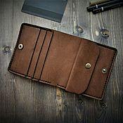 Сумки и аксессуары handmade. Livemaster - original item Brown wallet calfskin. Handmade.
