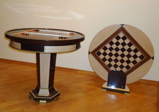 Мебель ручной работы. Ярмарка Мастеров - ручная работа. Купить Нарды Стол для игры. Handmade. Коричневый, нарды, шашки, игра