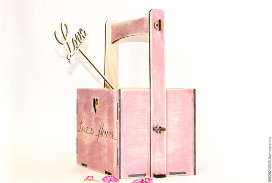 Корзины, коробы ручной работы. Ярмарка Мастеров - ручная работа. Купить Ящик для цветов  №2. Handmade. Комбинированный, ящик для кухни
