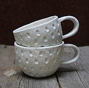 Посуда ручной работы. Ярмарка Мастеров - ручная работа Жемчужные кружки. Handmade.