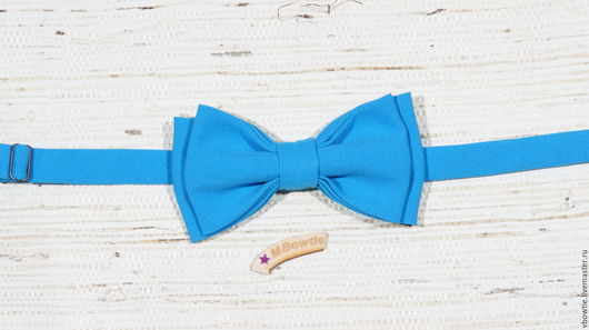 Галстуки, бабочки ручной работы. Ярмарка Мастеров - ручная работа. Купить Галстук-бабочка АРТ-50 голубой, голубая. Handmade.