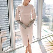 Одежда ручной работы. Ярмарка Мастеров - ручная работа Платье с расклешенным рукавом. Handmade.