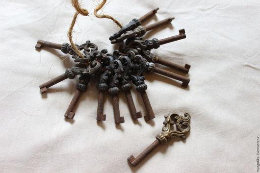 Винтажные сувениры. Ярмарка Мастеров - ручная работа. Купить Французские винтажные ключи. Handmade. Коричневый, для дома и интерьера, для декора, шебби