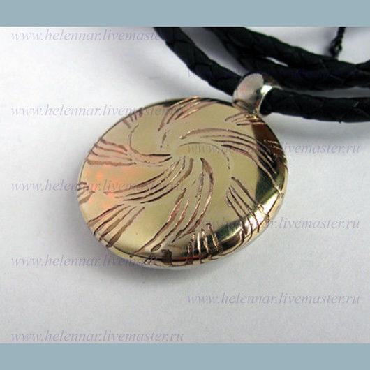 Солярный медальон в стиле Мокуме Гане
