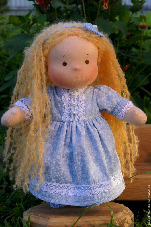 Вальдорфская игрушка ручной работы. Ярмарка Мастеров - ручная работа. Купить Голубушка- куколка по вальдорфским мотивам,31 см. Handmade.