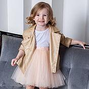 Юбки ручной работы. Ярмарка Мастеров - ручная работа Ванильная детская юбка пачка из фатина. Handmade.