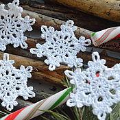 Подарки к праздникам handmade. Livemaster - original item Snowflake crochet 6cm. Handmade.