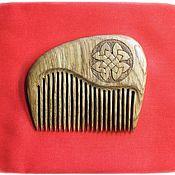Сувениры и подарки handmade. Livemaster - original item Wooden comb with the symbol CLOVER. Handmade.