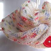 Шарфы ручной работы. Ярмарка Мастеров - ручная работа Cнуд шарф вязаный женский полушерстяной мохеровый Нежный. Handmade.