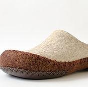 """Обувь ручной работы. Ярмарка Мастеров - ручная работа Тапочки валяные """"Кайова"""". Handmade."""