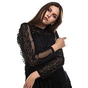 Одежда handmade. Livemaster - original item Black lace cocktail dress. Handmade.