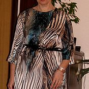 Одежда ручной работы. Ярмарка Мастеров - ручная работа Платье натуральный шелк прямое. Handmade.